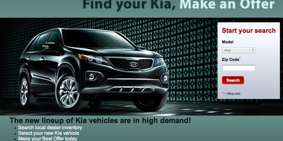 Kia joins eBay as first online manufacturer