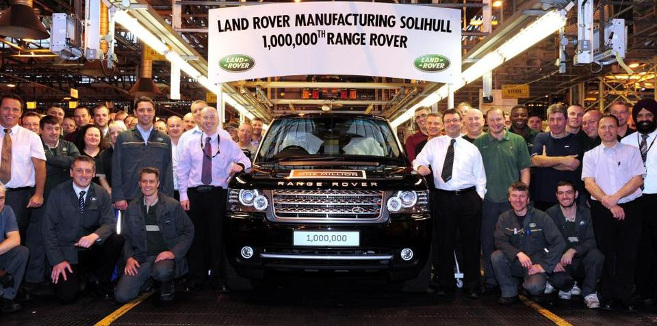 Range Rover rolls out one millionth unit and donates it to Help for Heroes