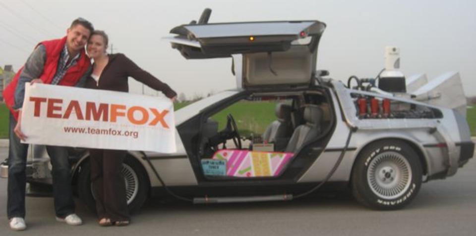 Back to the Future DeLorean DMC-12 replica