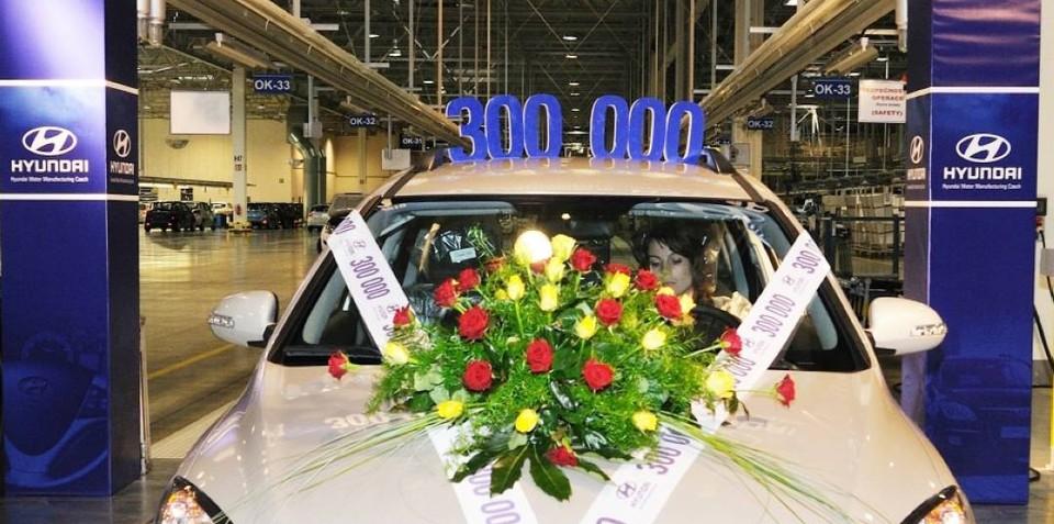 Hyundai production plant in Czech Republic rolls out 300,000th car