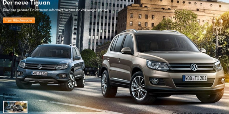 2012 Volkswagen Tiguan image leaked on German website