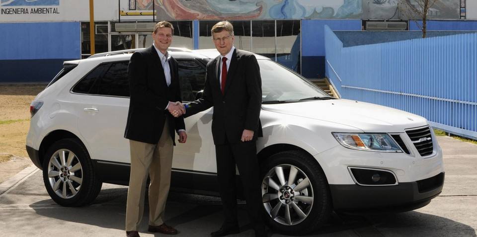 2011 Saab 9-4X first production vehicle rolls off the line