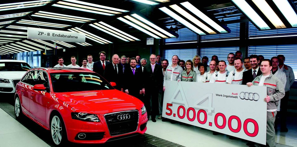 Audi A4 production hits five million