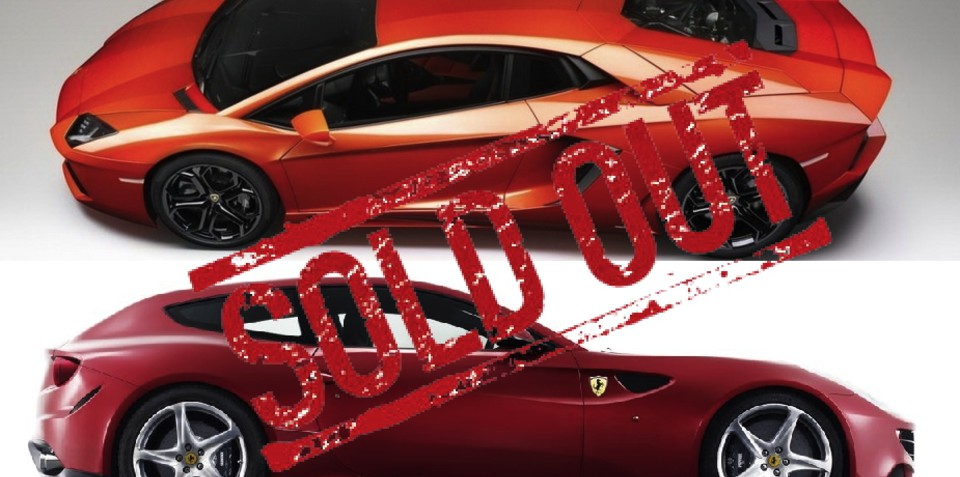 2011 Lamborghini Aventador LP700-4 and Ferrari FF sold out