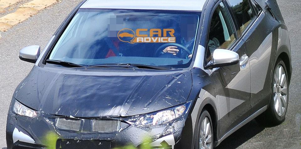 2012 Honda Civic hatch spy shots