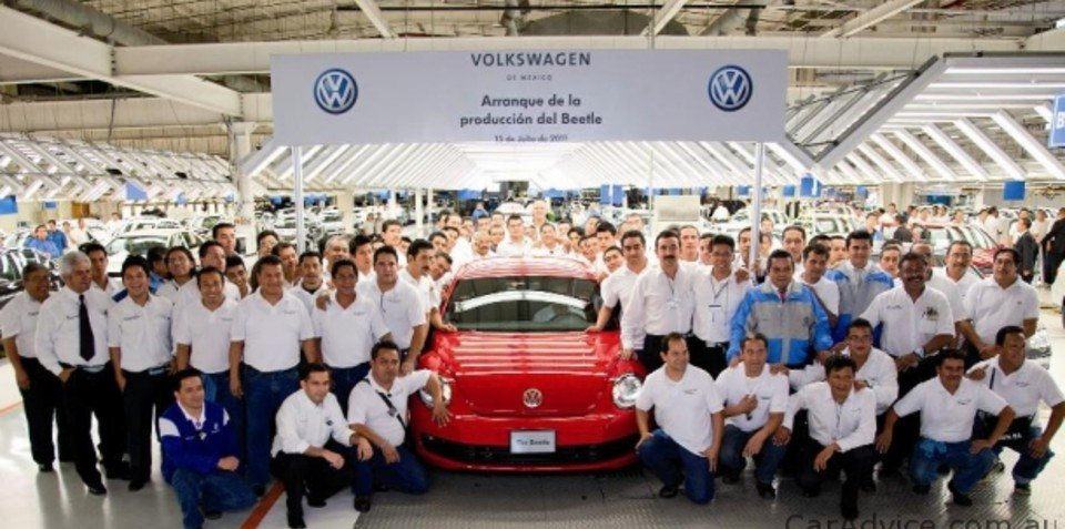 2012 Volkswagen Beetle production commences, Australian deliveries late next year