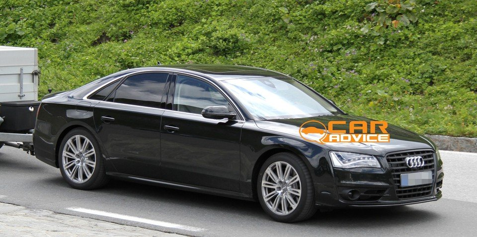 Audi S8 Spy Photos