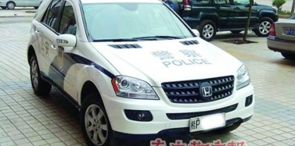 Chinese police rebadge Mercedes-Benz ML 350 as a Honda CR-V