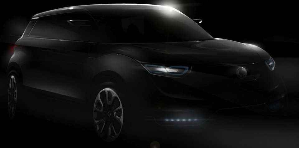 SsangYong Concept XUV 1 teaser to 2011 Frankfurt Motor Show