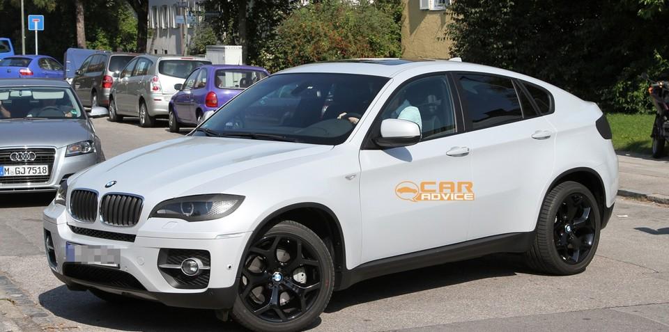 2012 BMW X6 facelift spy shots