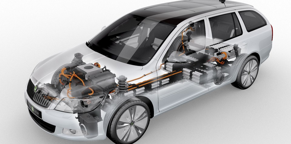 Skoda Octavia E Line electric vehicle test fleet production begins