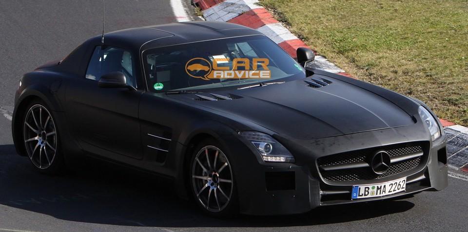 2013 Mercedes-Benz SLS AMG Black Series spy shots