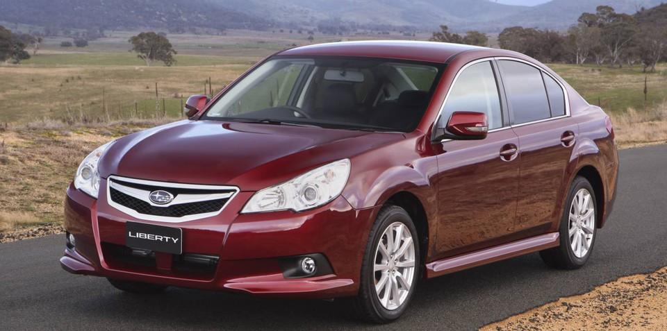 2012 Subaru Liberty gets standard reversing camera, full-size alloy spare