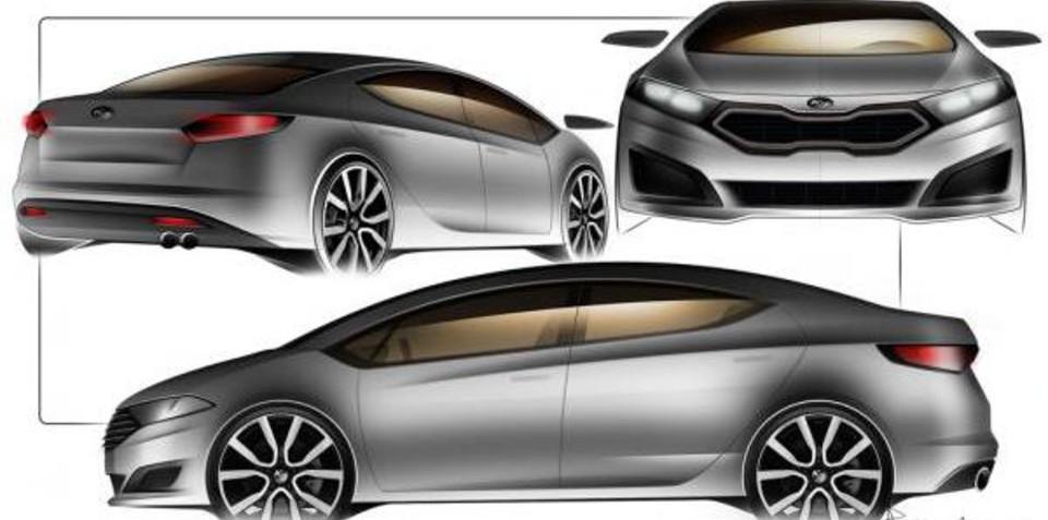 New Kia Cerato sedan unofficial sketches