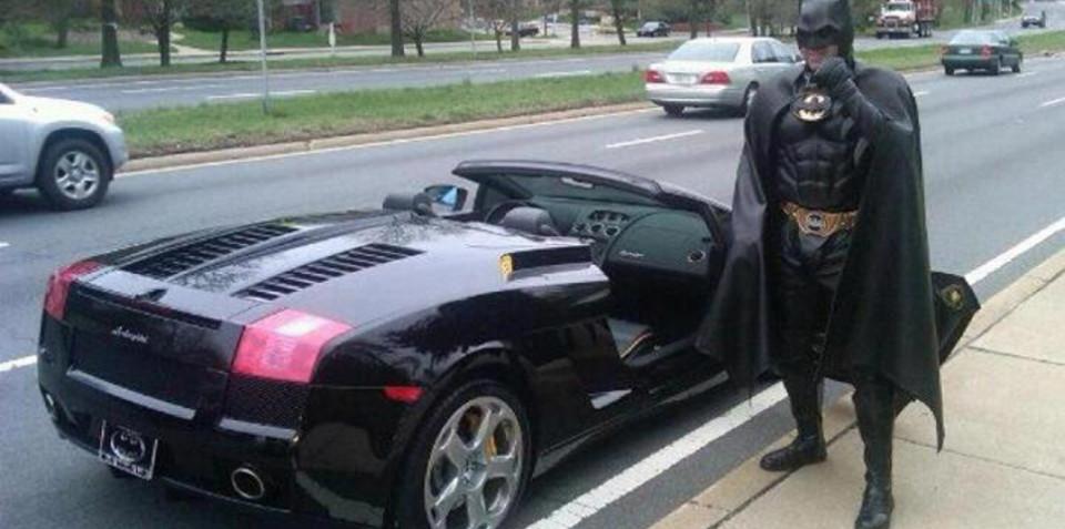 'Batman' pulled over driving Lamborghini Gallardo