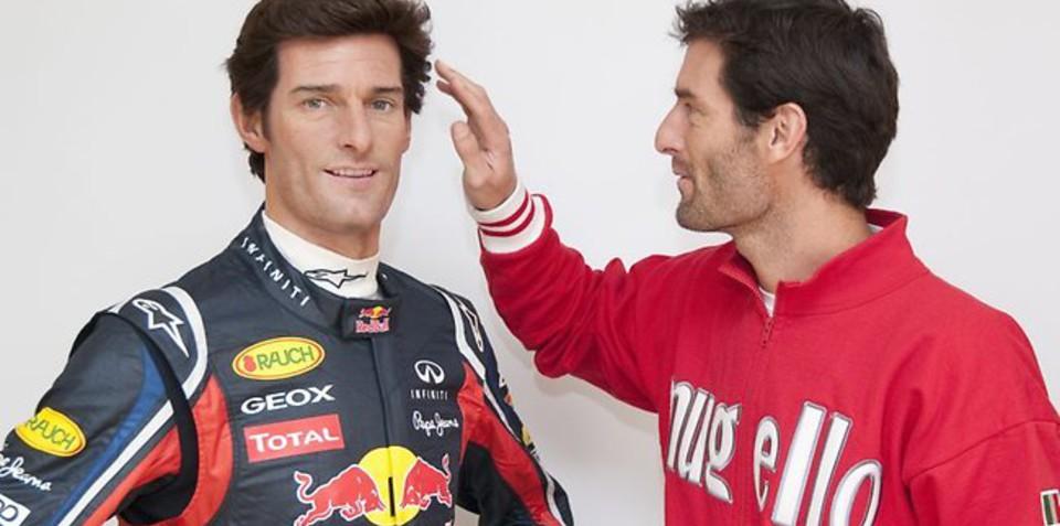 Mark Webber gets waxed for Madame Tassauds