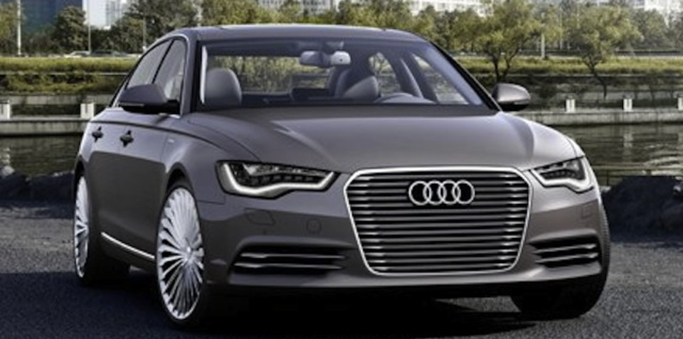 Audi A6 L e-tron concept: luxury plug-in revealed