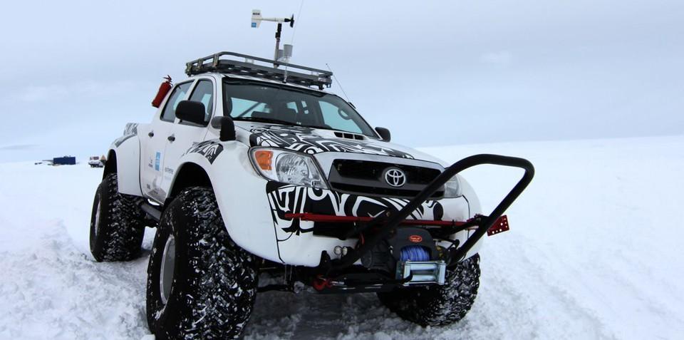 Toyota Hilux conquers Antarctica on jet fuel