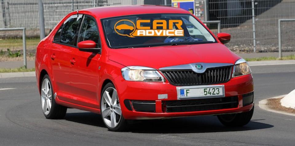 Skoda Rapid small car spied testing