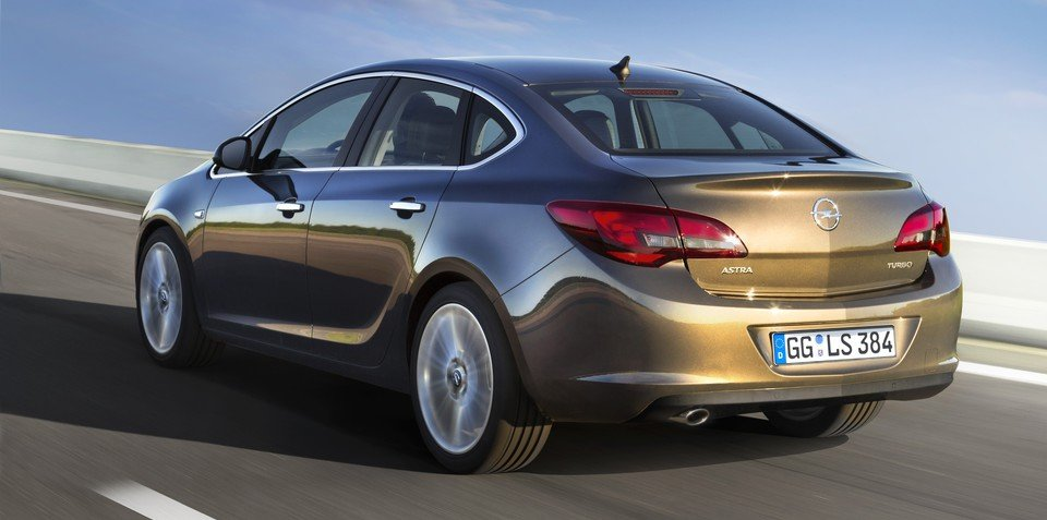Opel Astra sedan: first look at small four-door