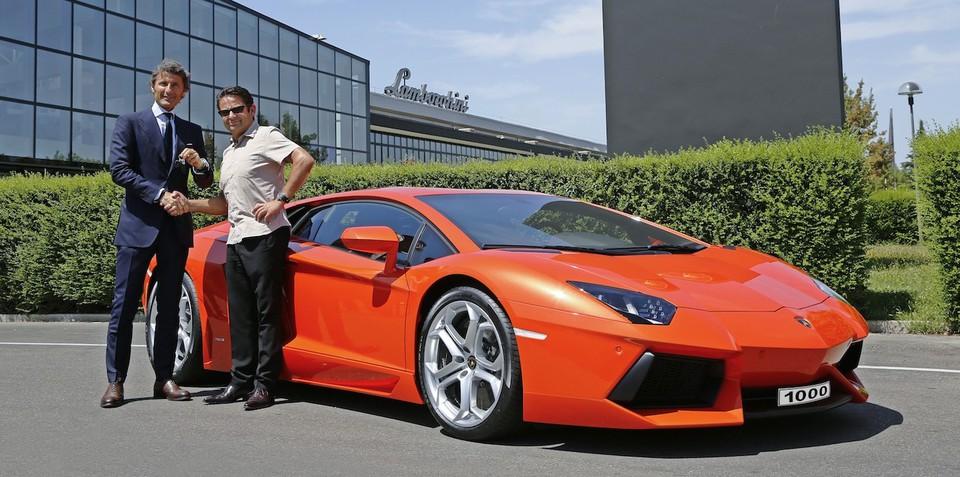 Lamborghini Aventador: 1000th supercar produced