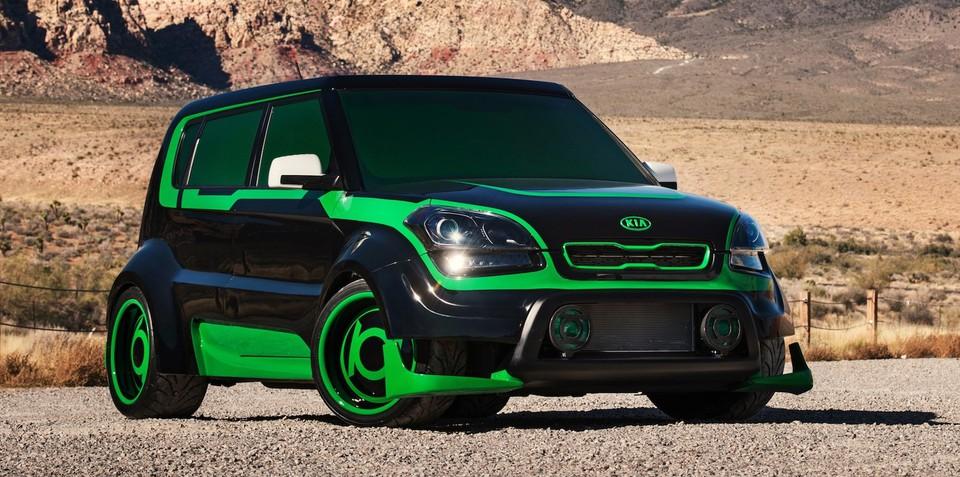 Kia Justice League super hero cars unveiled at 2012 SEMA show