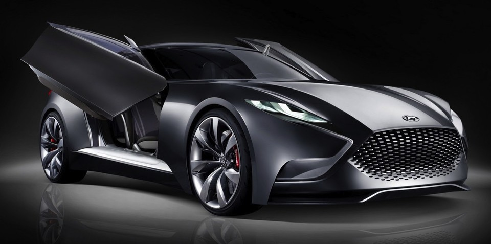 Hyundai HND-9 concept previews new Genesis Coupe in Seoul