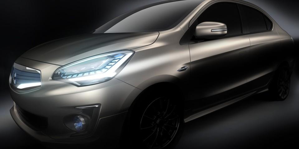 Mitsubishi G4 concept previews Mirage-based sedan