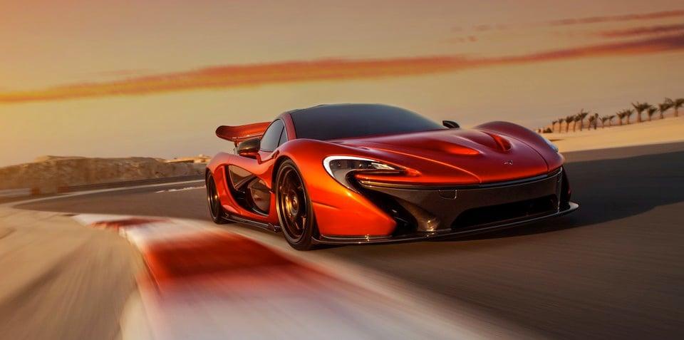 McLaren P1 shot in Bahrain to celebrate showroom launch
