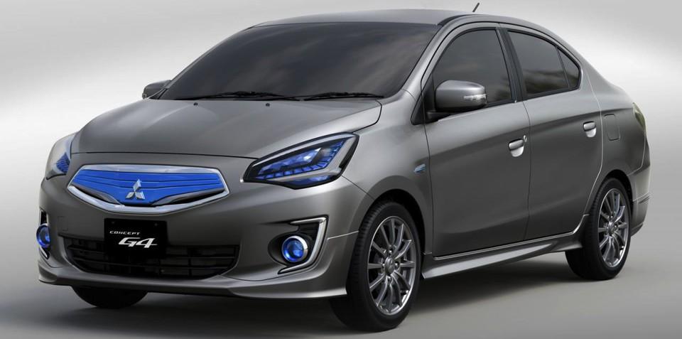 Mitsubishi G4 concept previews new compact sedan