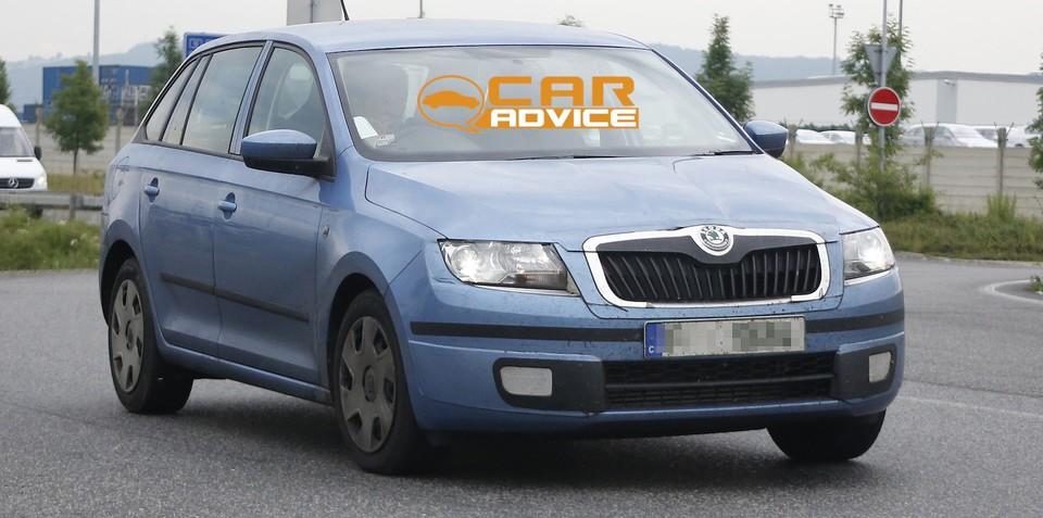 Skoda Rapid Spaceback: compact Czech wagon spied