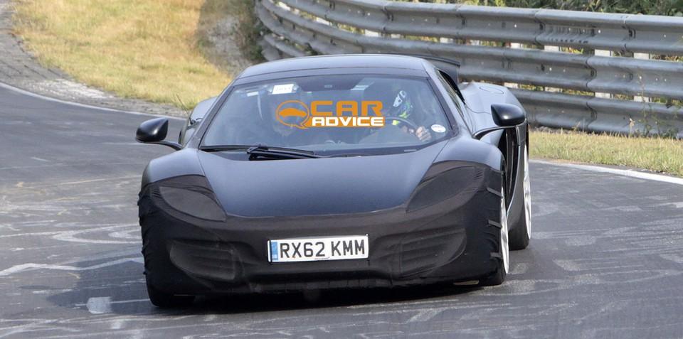 McLaren P13: Audi R8 rival hits the track