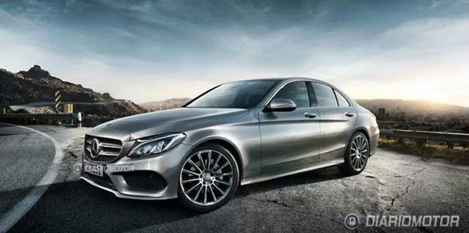 2014 Mercedes-Benz C-Class exterior shots leaked