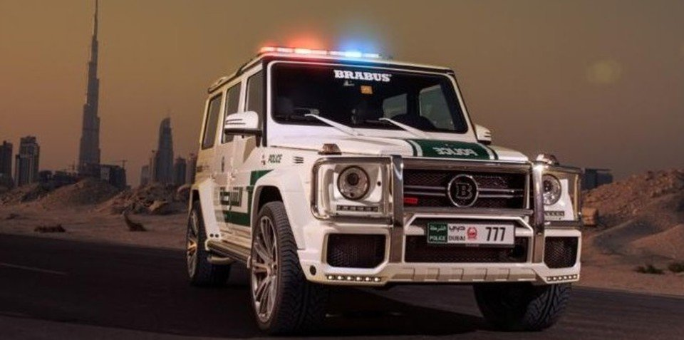 Mercedes-Benz G63 AMG: Brabus-tuned beast joins Dubai police force