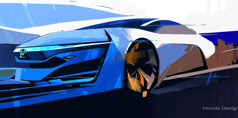 Honda FCEV concept previews future fuel cell electric vehicle