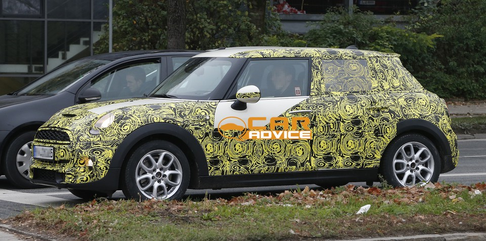 Mini Cooper five-door: stretched hatchback spied