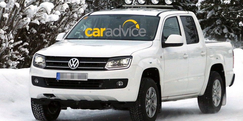 Volkswagen Amarok: upgraded ute spied with LEDs, xenon headlights