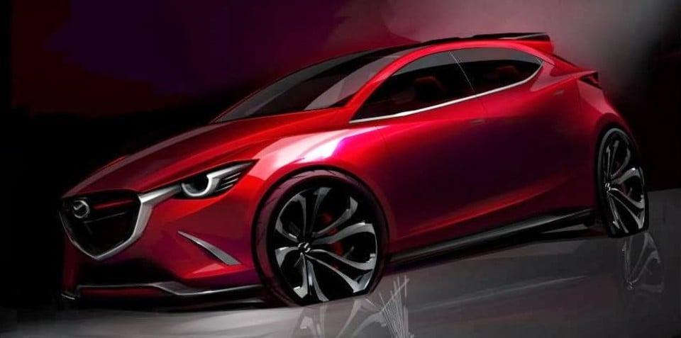 2015 Mazda 2 Hazumi concept sketch leaked
