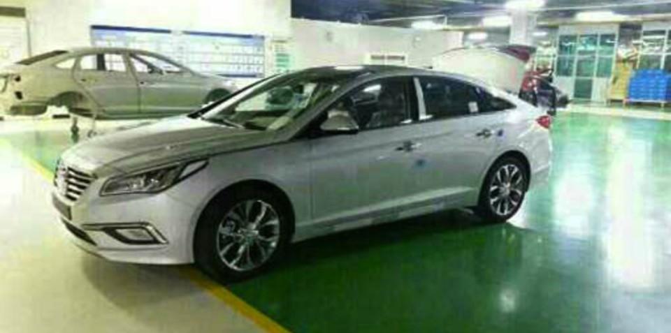 2015 Hyundai Sonata revealed on factory floor