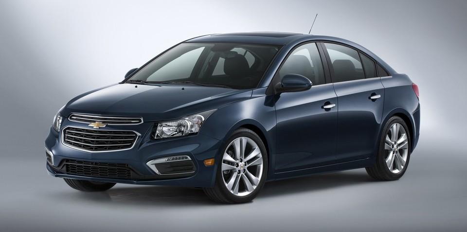 2015 Holden Cruze facelift revealed in Chevrolet guise