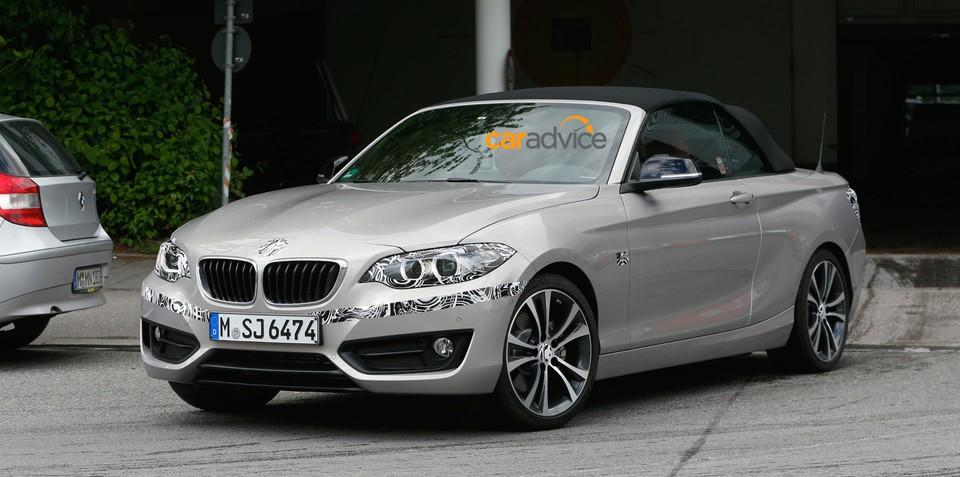 BMW 2 Series Convertible spied with minimal camouflage