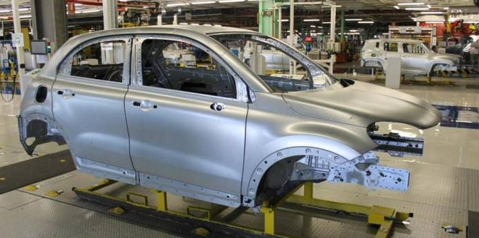 Fiat 500X production body revealed, confirmed for Australia by 2016