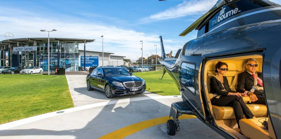 Mercedes-Benz begins helicopter services from Melbourne Airport to CBD
