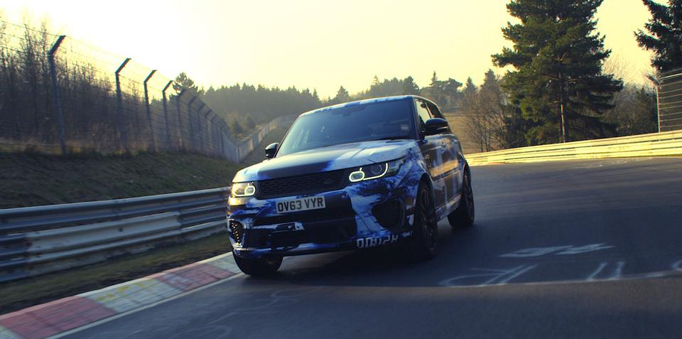 Range Rover Sport SVR claims production SUV Nurburgring record