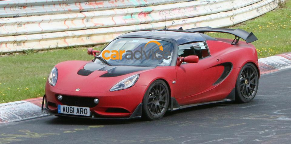 Lotus Elise S Cup R road car spied