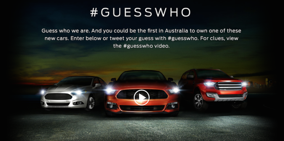 Ford Australia promotes 2015 hero cars in Twitter game