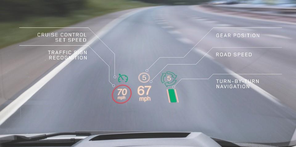 Range Rover Evoque gains world-first laser head-up display