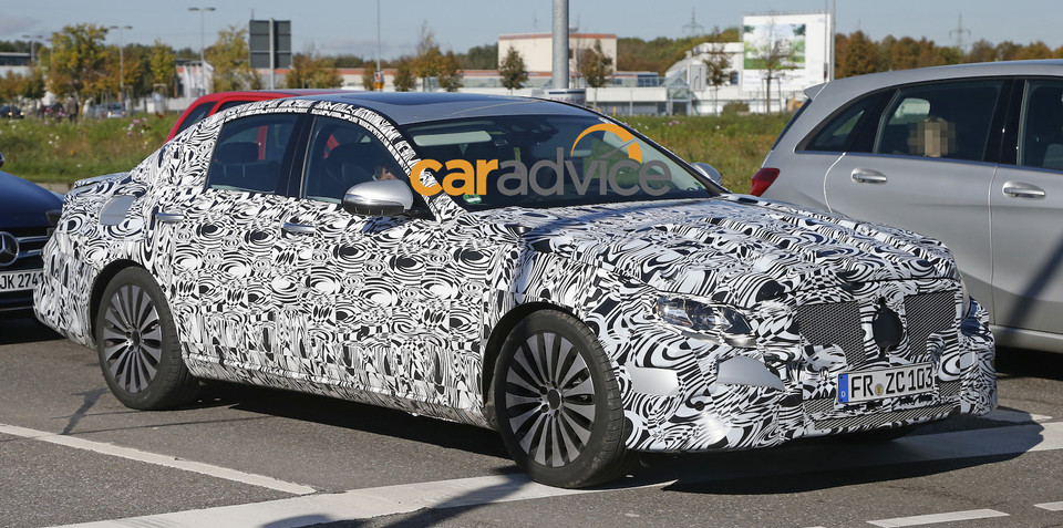 2016 Mercedes-Benz E-Class : Next-gen spied, set to debut advanced engine tech