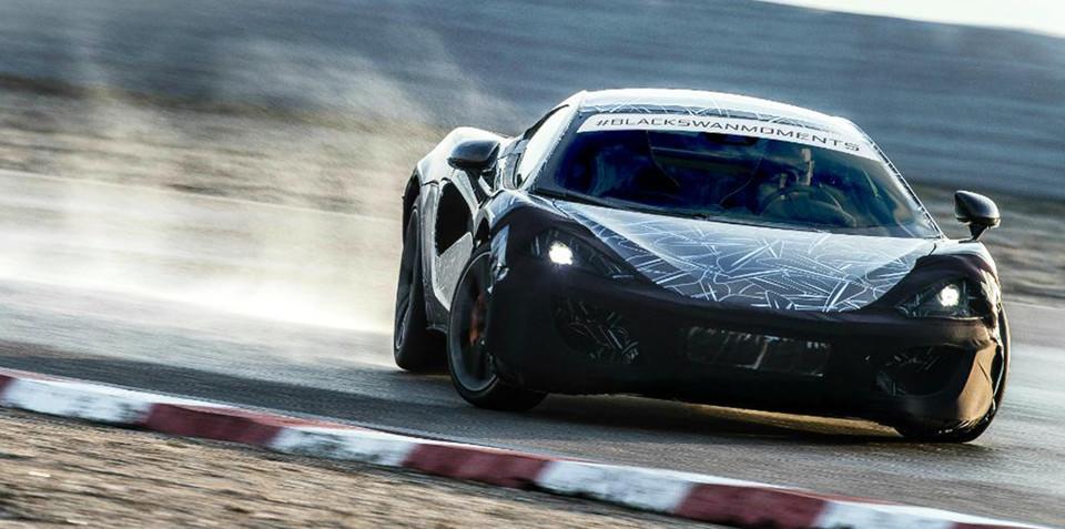 McLaren Sports Series shown undergoing testing