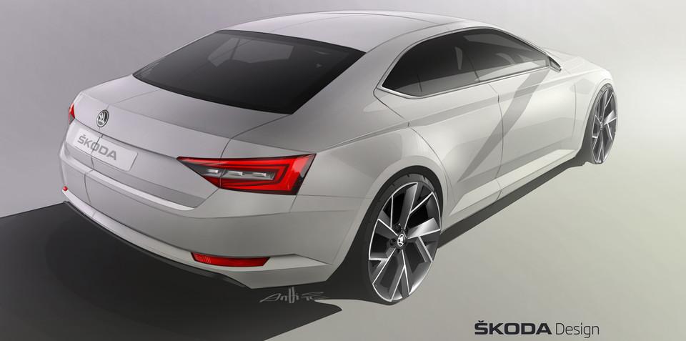 2015 Skoda Superb rear revealed in official sketch